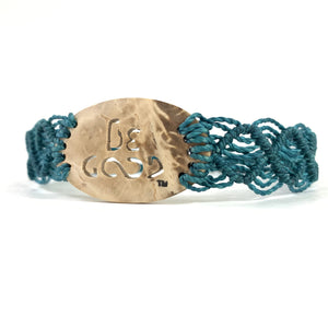 Be Good Always Diffuser Bracelet (Coconut Shell) Teal Band