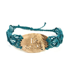 Load image into Gallery viewer, Be Good Always Diffuser Bracelet (Coconut Shell) Teal Band