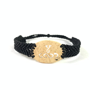 Young and Good Always Diffuser Bracelet (Coconut Shell) Black Band