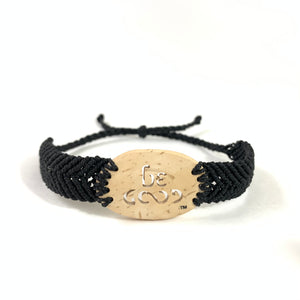 Be Good Always Diffuser Bracelet (Coconut Shell) Black Band