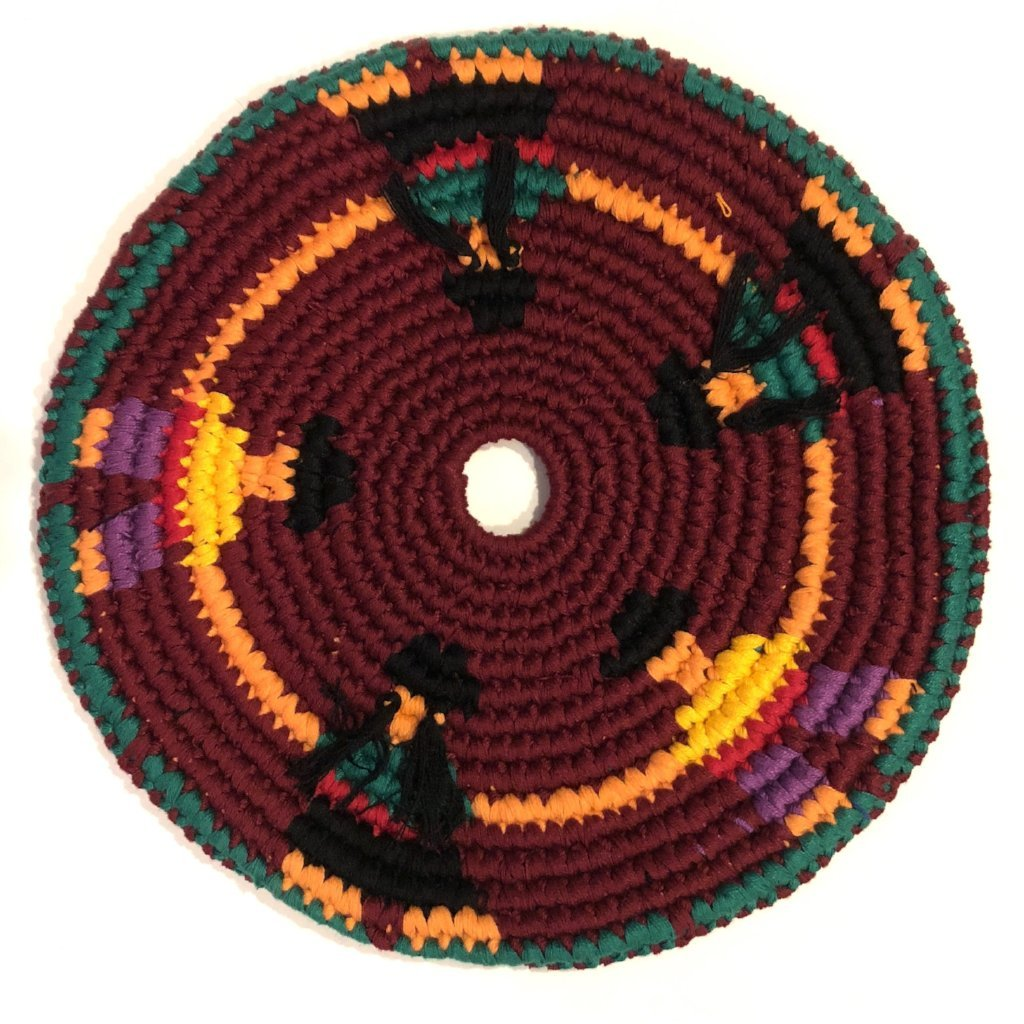 Mayan Frisbee People  Design [Burgundy] (Large 9 Inch)