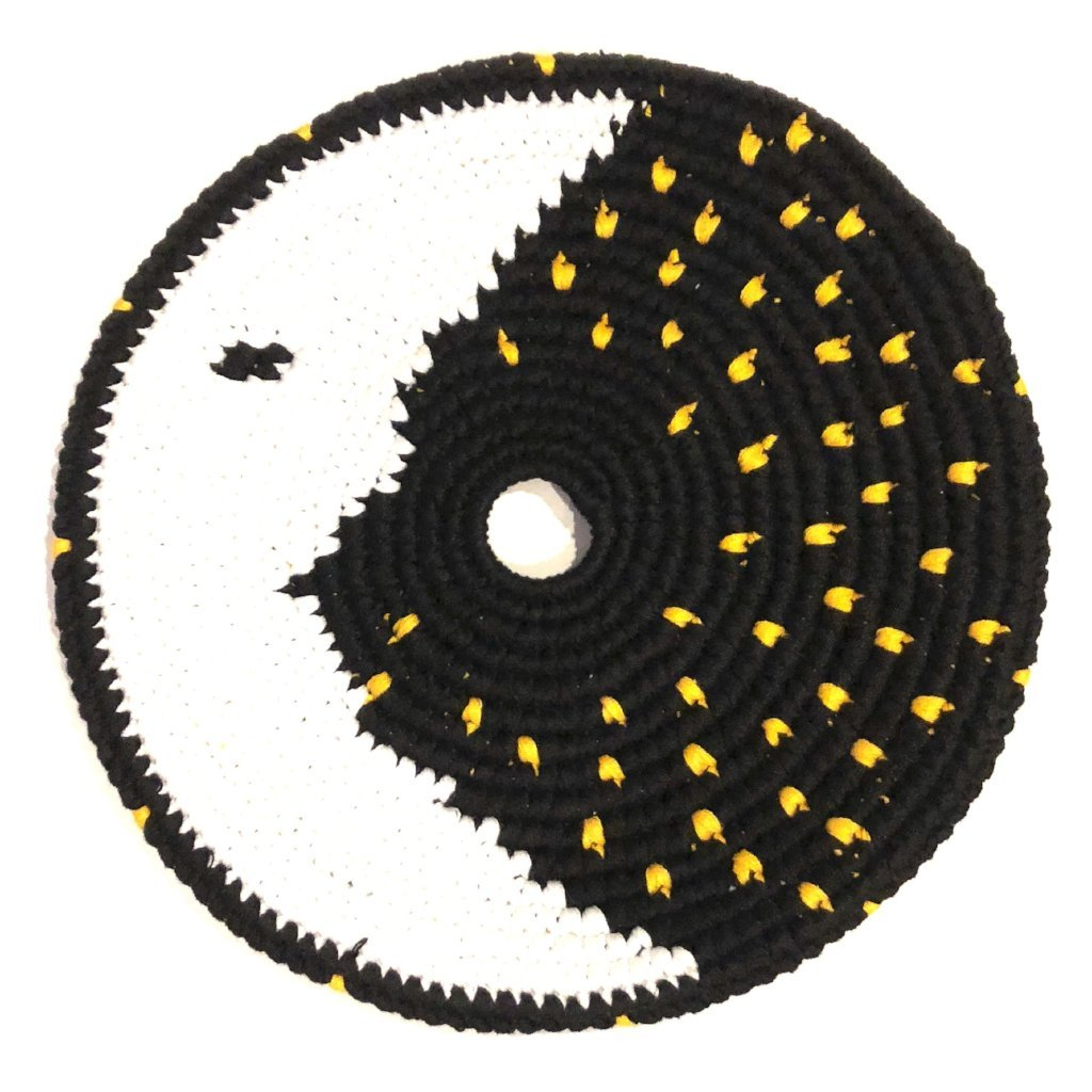 Mayan Frisbee Moon and Stars Design (Large 7.5 Inch)