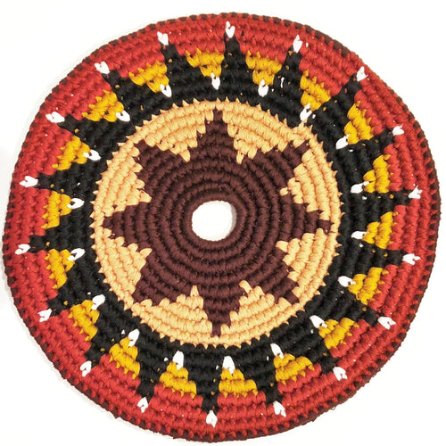 Mayan Frisbee Brown Star Pattern (Small 7.5 Inch)