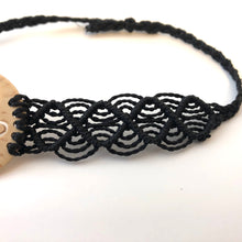 Load image into Gallery viewer, Love Good Always Coconut Shell Bracelet Mayan Lace Black Band
