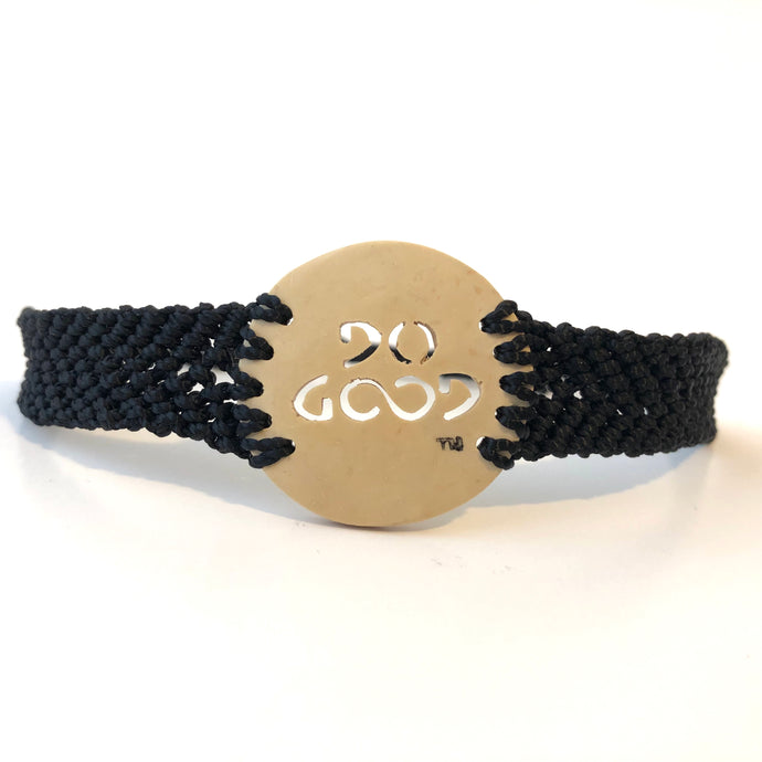 Do Good Always Coconut Shell Bracelet Black Band Circle