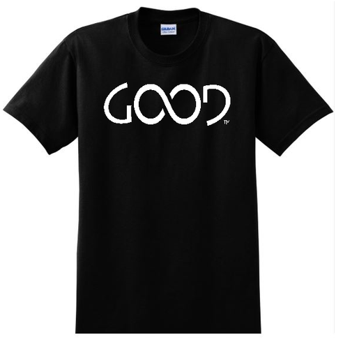 Good Always White Logo (Black Shirt)