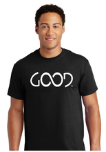 Load image into Gallery viewer, Good Always White Logo (Black Shirt)