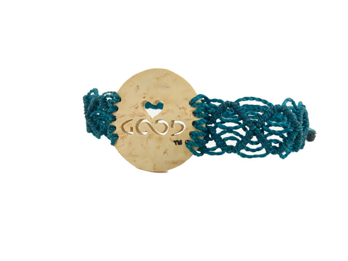 Heart Strings Diffuser Bracelet Mayan Lace (Teal Band)