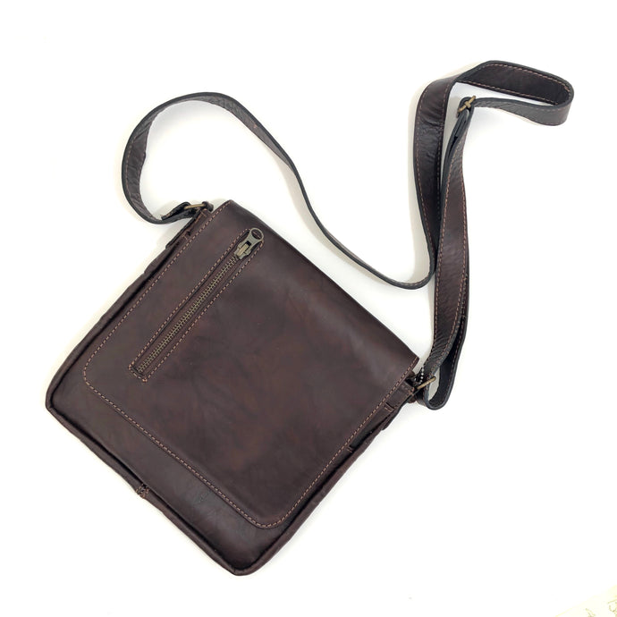 Cross Body Genuine Leather Hand Crafted Mayan Artisan Bag  No. 13