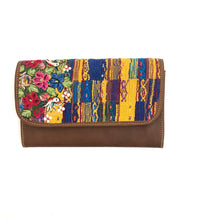 Load image into Gallery viewer, Mayan Artisan Leather Clutch Purse with Huipil Fabric Body No. 11