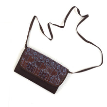 Load image into Gallery viewer, Mayan Artisan Leather Clutch Purse with Huipil Fabric Body No. 9