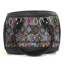 Load image into Gallery viewer, Full Grain Leather Handbag with Mayan Huipil Fabric Body No. 34