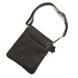 Cross Body Genuine Leather Hand Crafted Mayan Artisan Bag Ebony
