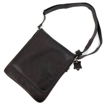 Load image into Gallery viewer, Cross Body Genuine Leather Hand Crafted Mayan Artisan Bag Ebony No. 26