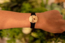 Load image into Gallery viewer, Love Good Always Coconut Shell Bracelet Traditional Lace Black Band