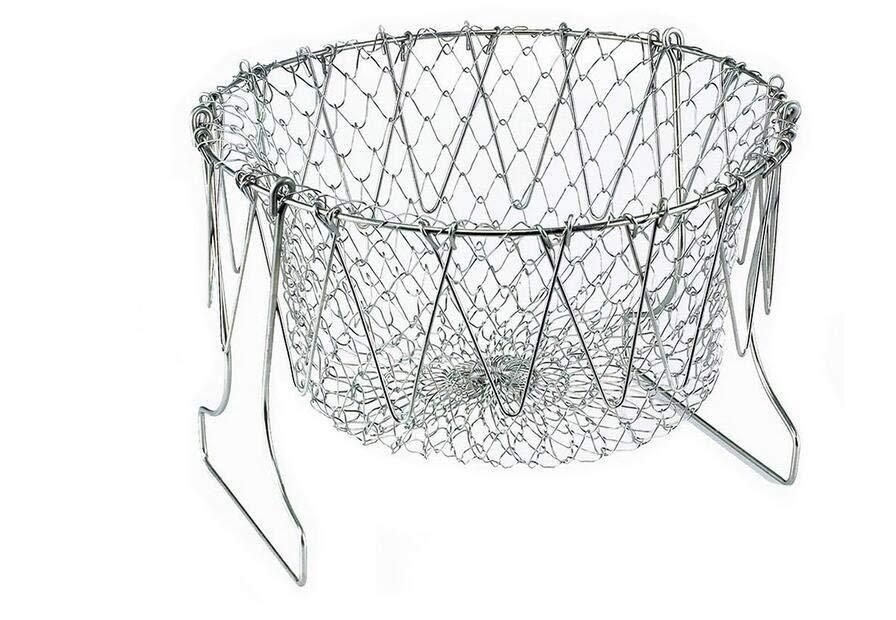 Stainless steel telescopic basket folding basket today limited time special