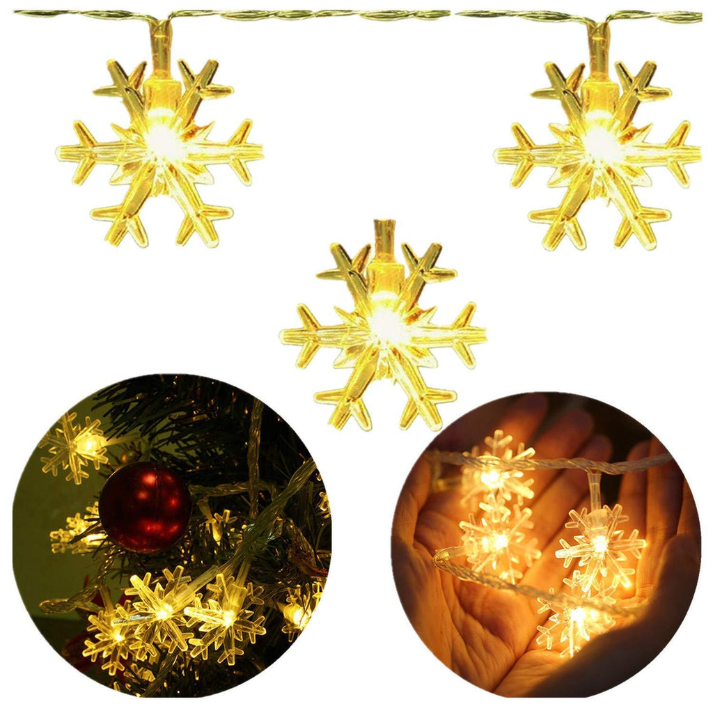 Snowflake Led String Lights Christmas Decorations