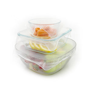 Silicone Food Wrap, 3 pc Set with XL Size Wrap