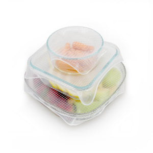 Silicone Food Wrap, 3 pc Set with XL Size Wrap, Reusable Covers, From Grand Fusion