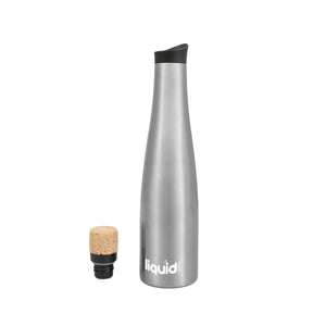 Wine Carafe & Water Bottle, Double Wall Vacuum-sealed Stainless Steel Keeps Wine Ice Cold, From Grand Fusion