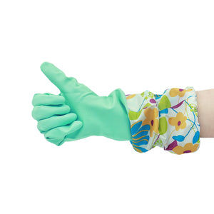 Grand Fusion Ultra Durable Latex Cleaning Gloves with Extra Long Fitted Cuffs 3 Pack. Protect Hands From Cleaners and Drying Out While Washing Dishes, Cleaning Toilets or Bathrooms, Gardening or More