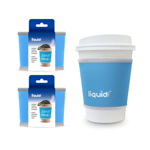 Java-Wrap Small - 3 Pack Set, From Liquid Fusion, Grand Fusion Insulated Reusable Neoprene Travel Coffee Cup Sleeve. Protect Hands from Heat.