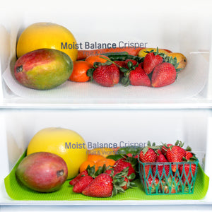 Fruit Fresh® Refrigerator Crisper Drawer Liner 2 pk, Keeps Fruit and Vegetables Fresh Longer, From Grand Fusion