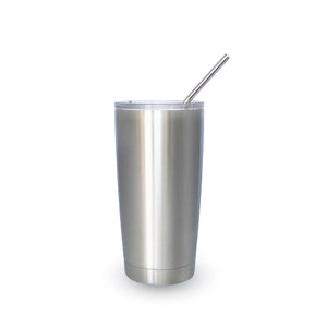 RE-USABLE STAINLESS STEEL DRINKING STRAW SET WITH BRISTLE CLEANING BRUSH