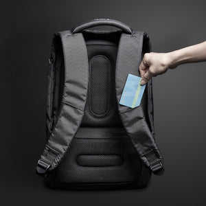 Travel Fusion Anti-theft Laptop Backpack with USB Charging Port, Security Cable, Combination Lock, and Water Resistant Exterior