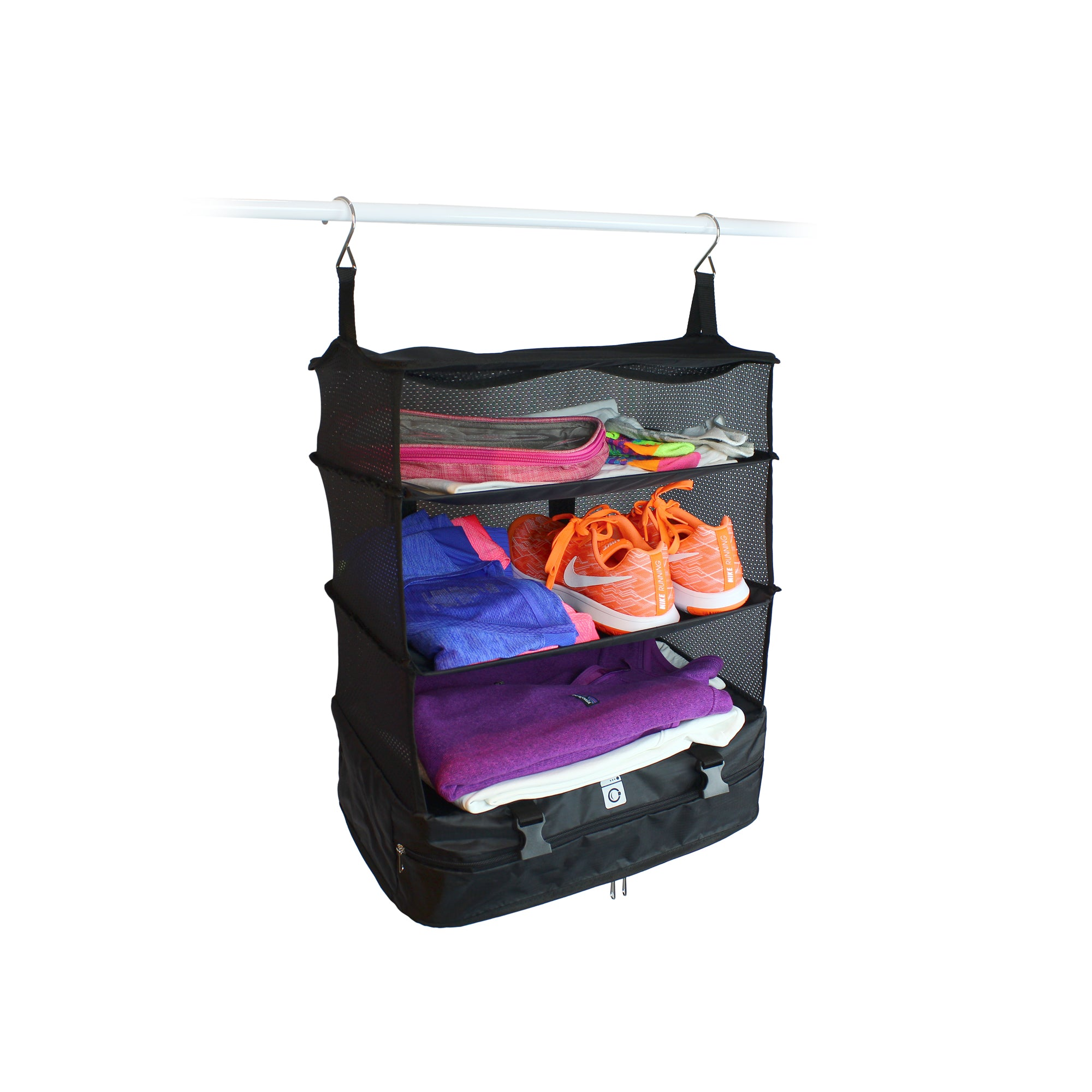 540873384f STOW N GO HANGING TRAVEL SHELVES - LARGE
