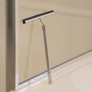 Stainless Steel Shower Squeegee with Telescoping Handle Extends to 23 Inches, From Grand Fusion