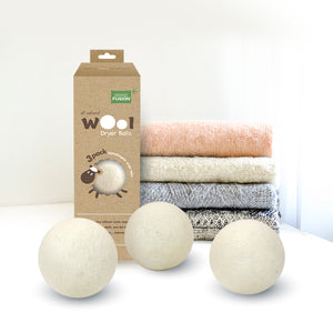 Wool Dryer Ball Set, Eco-friendly, Reduces wrinkles, static, and lint build up, From Grand Fusion
