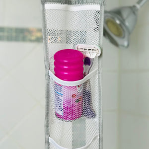 Hanging Mesh Shower Caddy with 7 pockets, From Grand Fusion