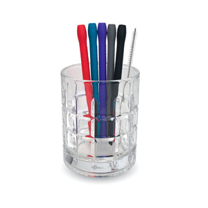 Silicone Cocktail Straw 5 pk & Brush
