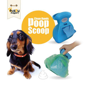 Clean Hands Poop Scoop with Built-in Waste Bag Dispenser, From Grand Fusion