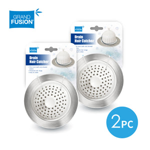 Drain Hair Catcher for Shower & Tub - 2 Pack Set