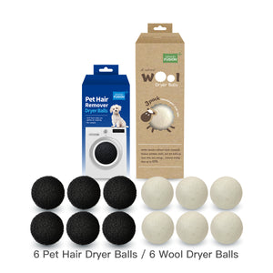 Pet Hair Remover Dryer Balls - Reusable Foam Balls Rid Laundry and Clothes of Soft Debris including Dog or Cat Fur or Strands of Hair.