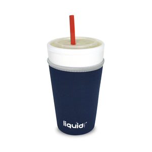 Frapp-Wrap™ , Medium - 3 Pack Set, From Liquid Fusion, Grand Fusion Insulated Drip Proof Reusable Neoprene Travel Coffee Cup Sleeve. Take Beverages Anywhere Keeping Iced Ones Cold Without Sweating Condensation on Papers or Desks.