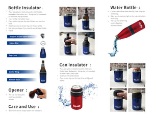 Icy Bev Kooler V 2.0 - 3 in 1 Bottle Insulator, Can Insulator, and Water Bottle, From Liquid Fusion / Grand Fusion