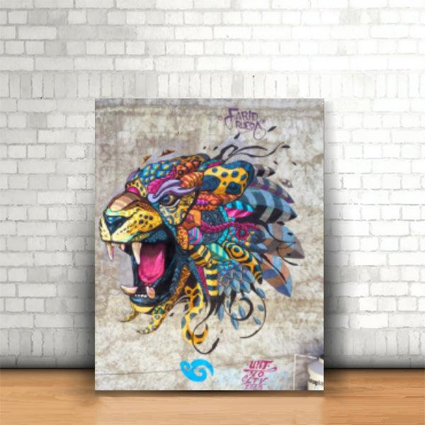 Tablou Tribal Lion