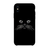 Husa iPhone X Black Cat