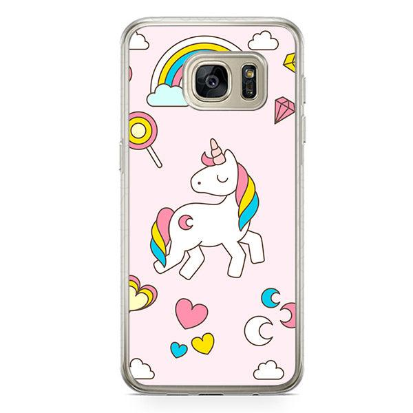 Husa Samsung Galaxy S7 Edge Pink Unicorn