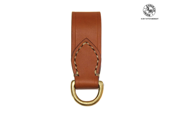 Closed Belt Loop in London Tan