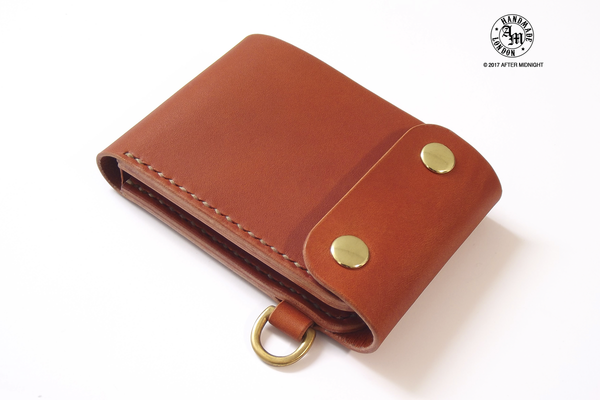 Trifold Wallet with Coin Department in London Tan