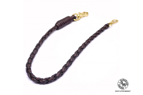 Lanyard 4-Strand in Havana Dark Brown