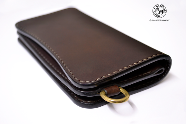 Trucker Wallet 'Concealed' Extra Pockets Dark Brown - Medium