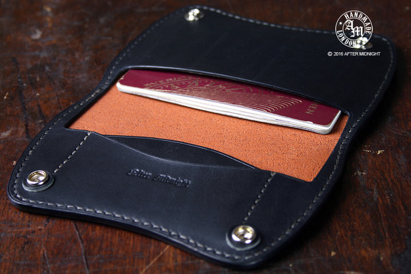 Passport Holder in Tan with Black Interior