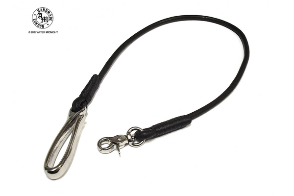 Lanyard Round Cord 5mm with Fish Hook - Black