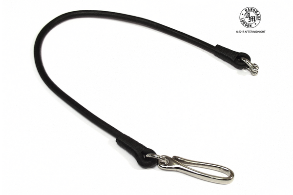 Lanyard Round Cord 7mm with Fish Hook - Black