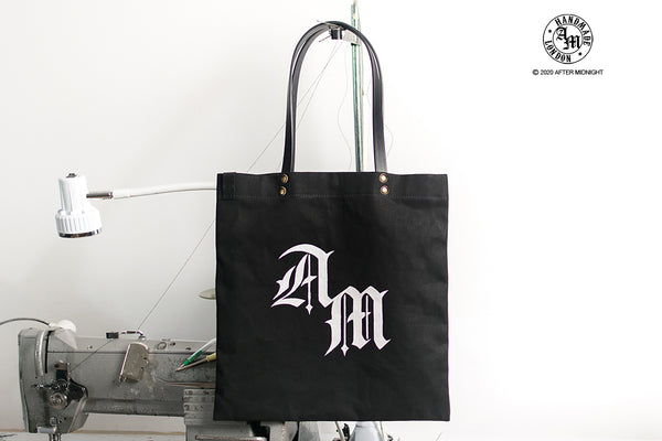 Shopping Bag in Black 16oz Duck Canvas